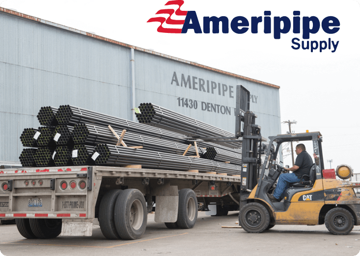 Ameripipe Supply loading materials onto a trailer