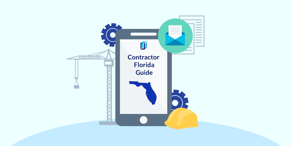 Illustration of phone showing Florida Contractor Licensing Guide