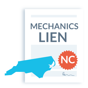 NC mechanics lien step 1 - Fill out the lien form
