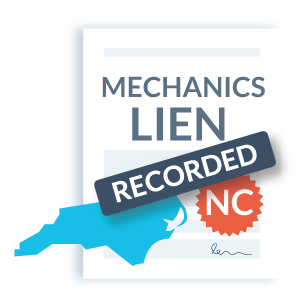 NC mechanics lien step 2 - record the lien