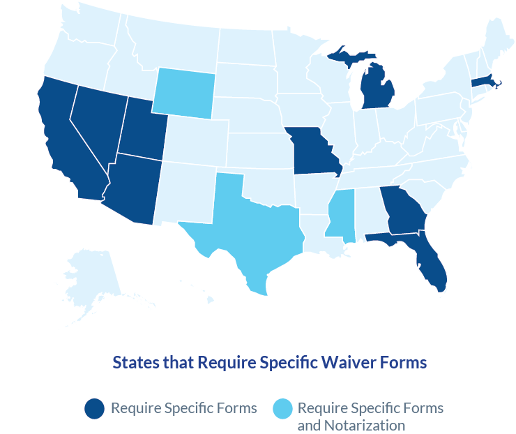 States that require lien waivers