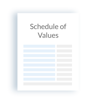 schedule of values icon
