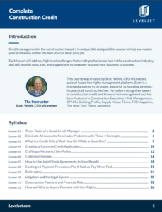The Ultimate Guide to Construction Credit