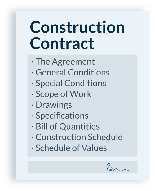 Common items in a construction contract