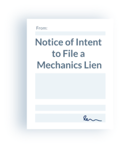 Notice of Intent to Lien Illustration