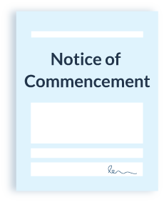 Notice of Commencement