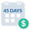 Payment Period 45 Days Icon