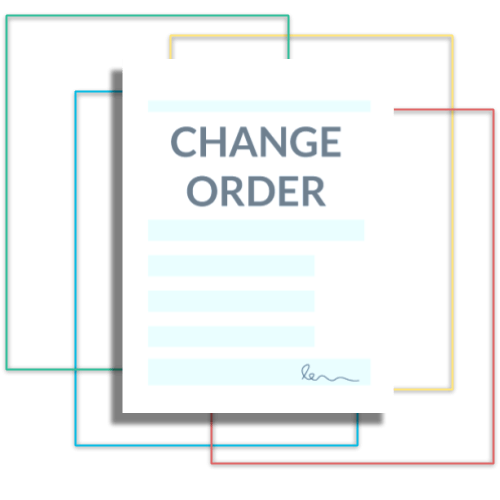 Change order templates icon transparent