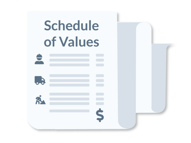 Illustration of a schedule of values document