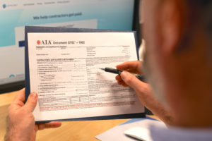 Filling out the AIA G702 Application for Payment