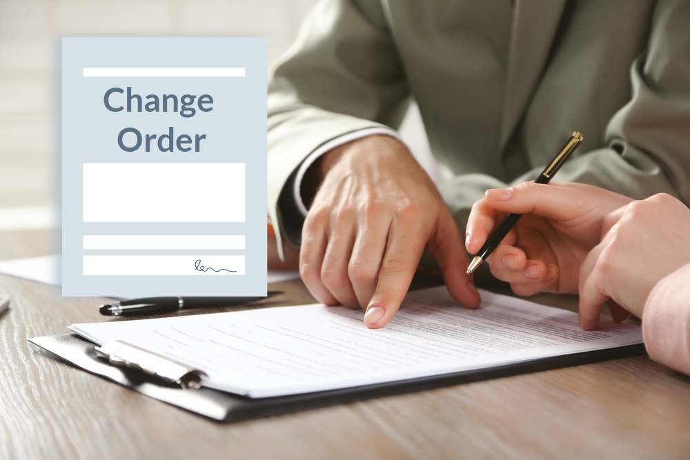 Making a change order in construction