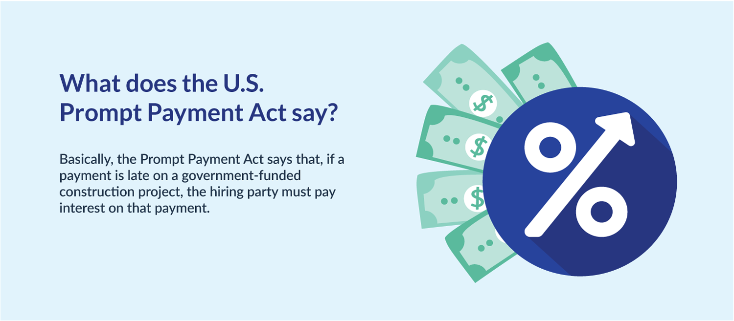 What does the prompt payment act say?