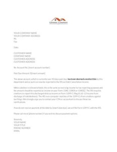 Demand Letter thumbnail image - Final Notice Before IRS Reporting - IRS-1099