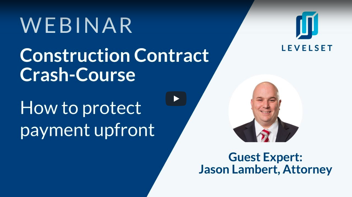 Webinar - A Construction Contract Crash-Course video thumbnail