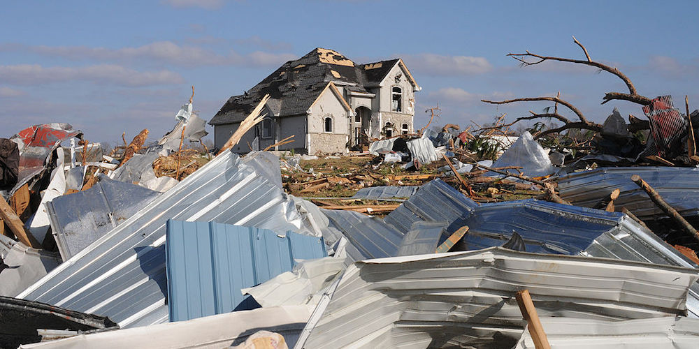 Damage from a 2008 tornado in Lafayette, TN | Tennessee Tornado Recovery
