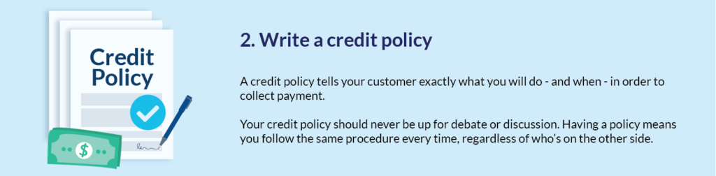 Step 2. Write a credit policy