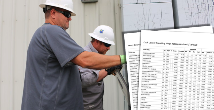 Illinois Prevailing Wages Supersede Contract