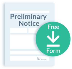 Preliminary notice form download