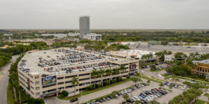 Aerial view of Sungrass Mills Shopping Mall outside Miami