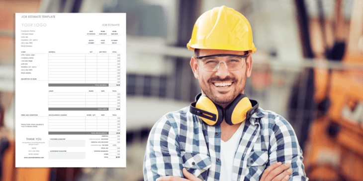 Contractor with job estimate