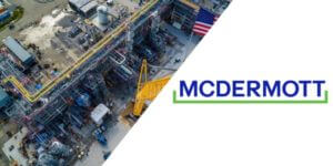 McDermott Logo and construction site photo