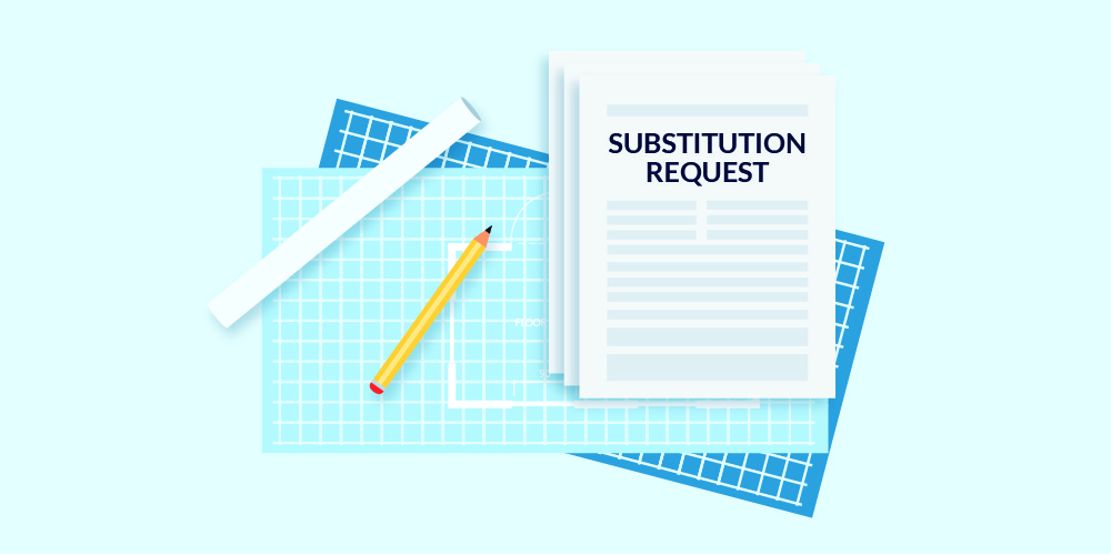 Illustration of a substitution request form