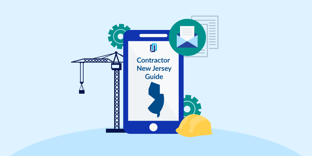 Illustration of phone showing New Jersey Contractor Licensing Guide