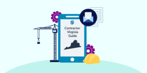 Illustration of phone showing Virginia Contractor Licensing Guide