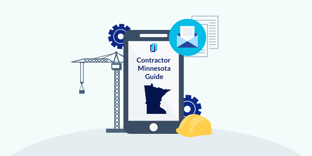 Illustration of phone showing Minnesota Contractor Licensing Guide