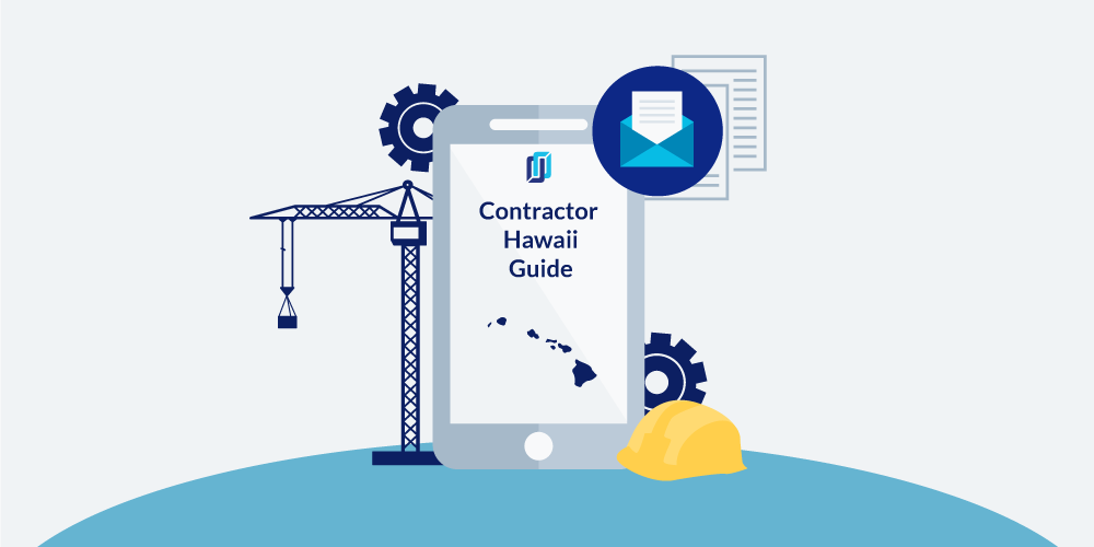 Illustration of phone showing Hawaii Contractor Licensing Guide