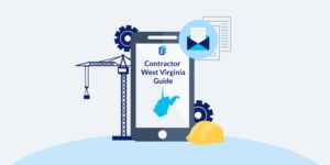 Illustration of phone showing West Virginia Contractor Licensing Guide