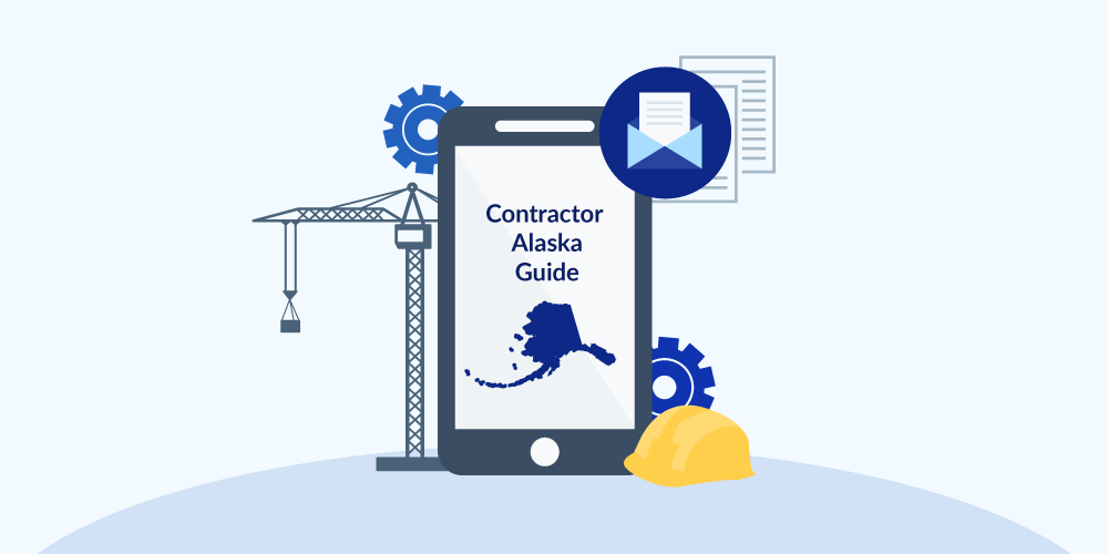 Illustration of phone showing Alaska Contractor Licensing Guide