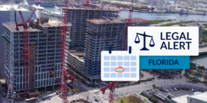 construction in Duval County Florida with Florida Legal Alert graphic